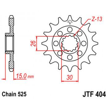 Звезда передняя JT Sprockets JTF404.17