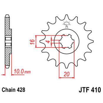 Звезда передняя JT Sprockets JTF410.14