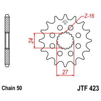 Звезда передняя JT Sprockets JT JTF423.17