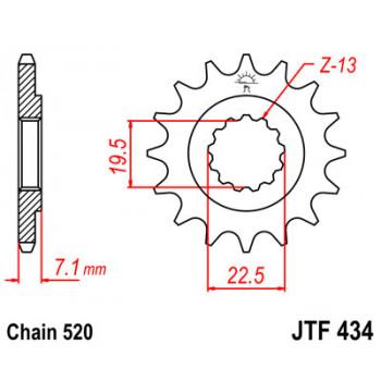 Звезда передняя JT Sprockets JTF434.16