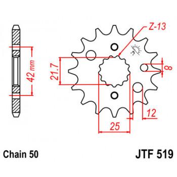 Звезда передняя JT Sprockets JTF519.17