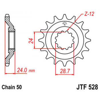 Звезда передняя JT Sprockets JTF528.17