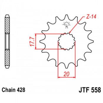 Звезда передняя JT Sprockets JTF558.14