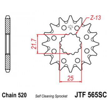 Звезда передняя JT Sprockets JTF565.13SC