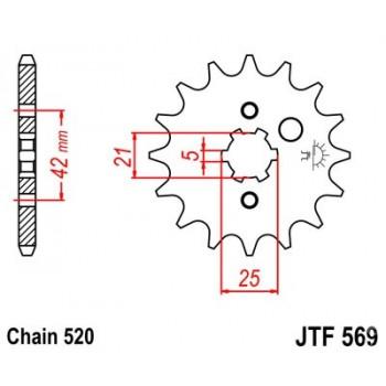 Звезда передняя JT Sprockets JTF569.16