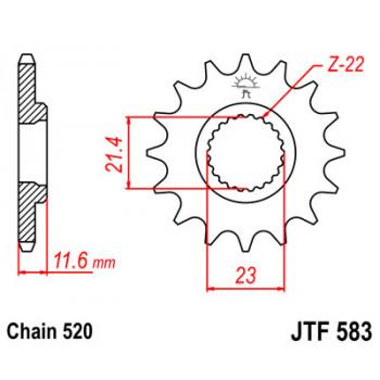 Звезда передняя JT Sprockets JTF583.14