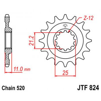 Звезда передняя JT Sprockets JTF824.15