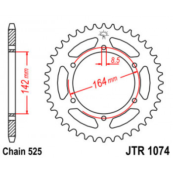 Звезда задняя JT Sprockets JTR1074.44