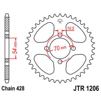 Звезда задняя JT Sprockets JTR1206.42