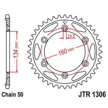 Звезда задняя JT Sprockets JTR1306.42