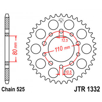 Звезда задняя JT Sprockets JTR1332.44