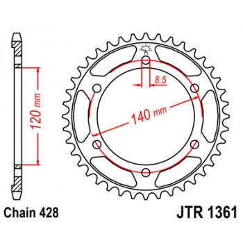 Звезда задняя JT Sprockets JTR1361.50
