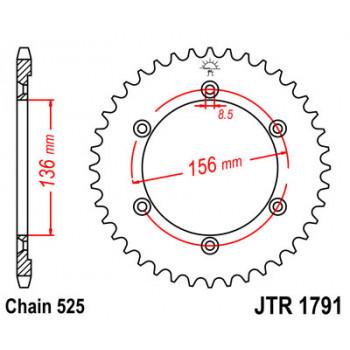 Звезда задняя JT Sprockets JTR1791.41