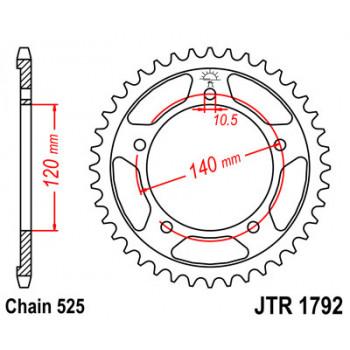 Звезда задняя JT Sprockets JTR1792.43