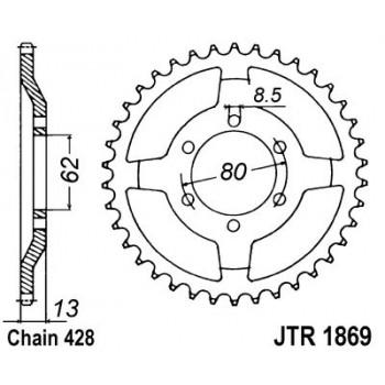 Звезда задняя JT Sprockets JTR1869.45