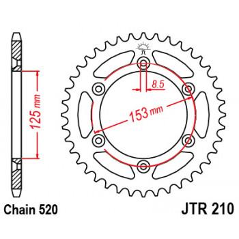 Звезда задняя JT Sprockets JTR210.48