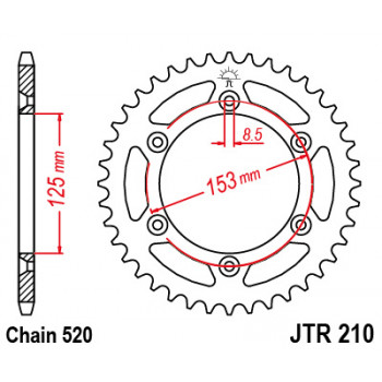 Звезда задняя JT Sprockets JTR210.52