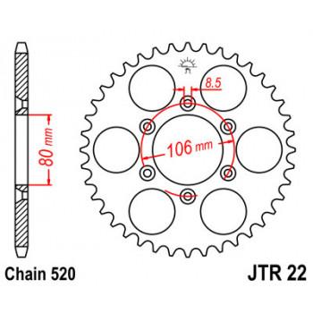 Звезда задняя JT Sprockets JTR22.49