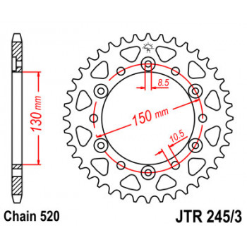 Звезда задняя JT Sprockets JTR245/3.42