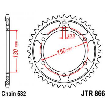 Звезда задняя JT Sprockets JTR866.38