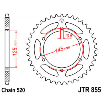 Звезда задняя JT Sprockets JTR855.48
