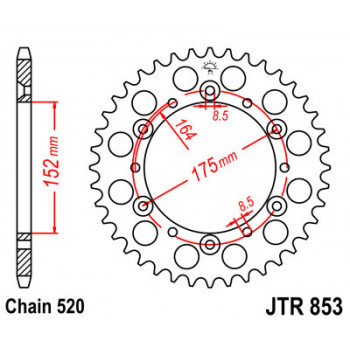 Звезда задняя JT Sprockets JTR853.44