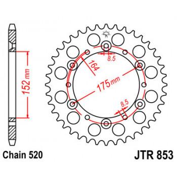 Звезда задняя JT Sprockets JTR853.45