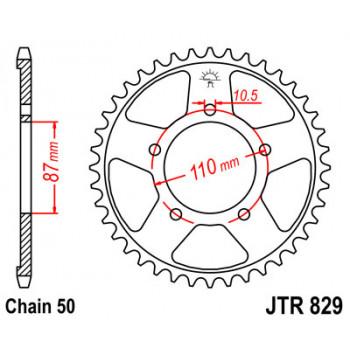 Звезда задняя JT Sprockets JTR829.45