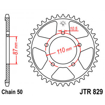 Звезда задняя JT Sprockets JTR829.47