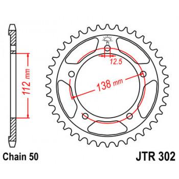 Звезда задняя JT Sprockets JTR302.43