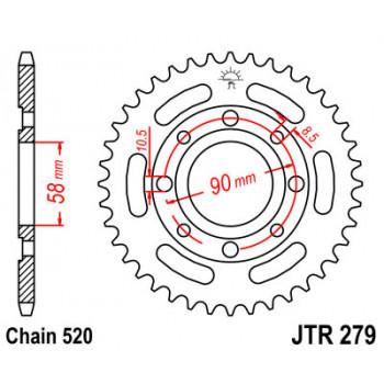 Звезда задняя JT Sprockets JTR279.31