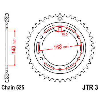 Звезда задняя JT Sprockets JTR3.41