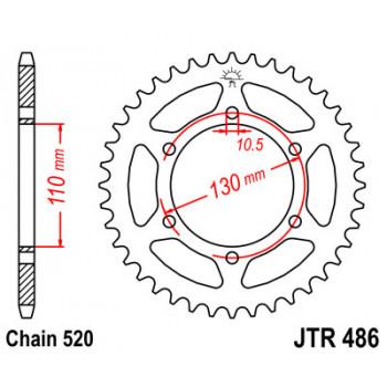 Звезда задняя JT Sprockets JTR486.45