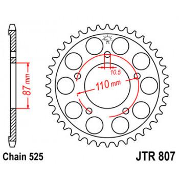 Звезда задняя JT Sprockets JTR807.44