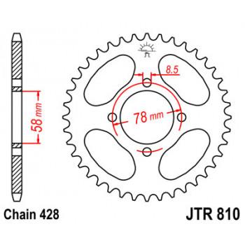 Звезда задняя JT Sprockets JTR810.48