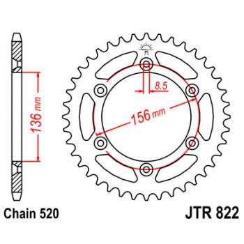 Звезда задняя JT Sprockets JTR822.43