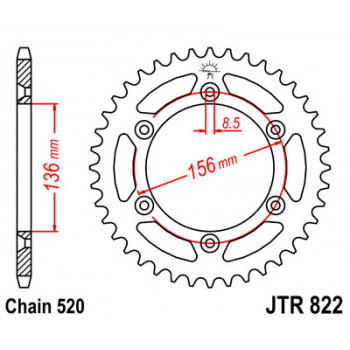 Звезда задняя JT Sprockets JTR822.47