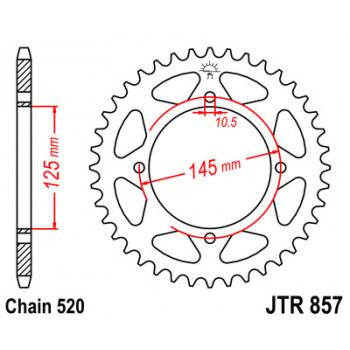 Звезда задняя JT Sprockets JTR857.40