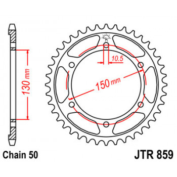 Звезда задняя JT Sprockets JTR859.39