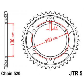 Звезда задняя JT Sprockets JTR5.47