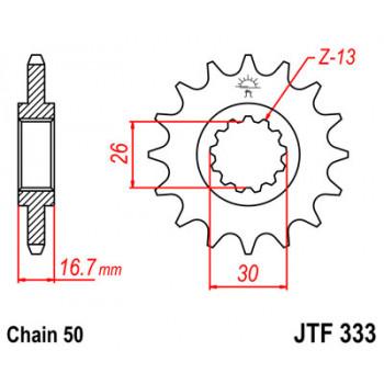 Звезда передняя JT Sprockets JTF333.16