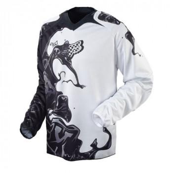 Кроссовая футболка (джерси) FOX 360 Black-White S