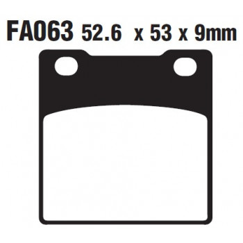 Колодки тормозные дисковые EBC FA063