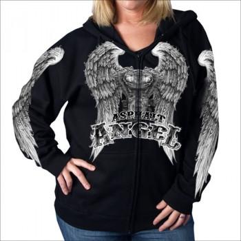 Толстовка женская Hot Leathers Asphalt Angel Black-Grey L