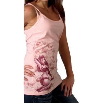 Майка женская Hot Leathers Polkadot Pin Up Pink L