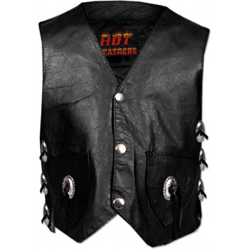 Жилет детский Hot Leathers Youth Vest with Lace Sides Black L