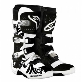 Мотоботы Alpinestars TECH 7 Black-White 8