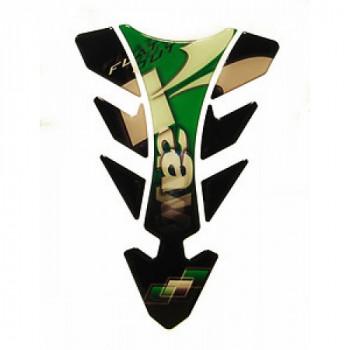 Наклейка на бак мотоцикла Puig Future Kawasaki Green