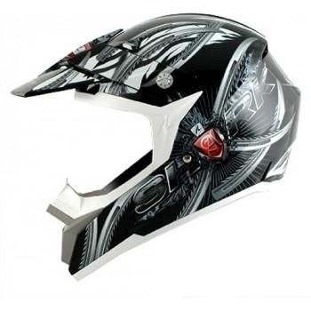Шлем Shark SX2 Claws Black-White-Silver L