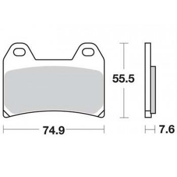 Колодки дискового тормоза LUCAS MCB575EC